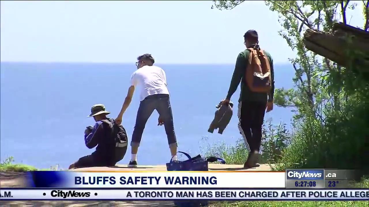Video: Scarborough Bluffs trespassers risk safety, hefty