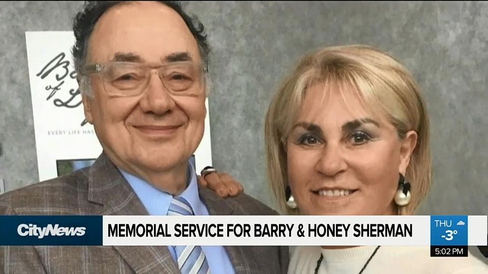 Memorial service for Barry & Honey Sherman