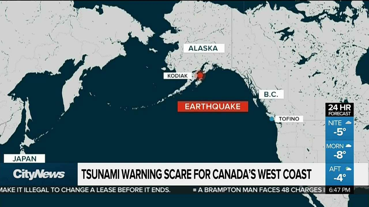 Tsunami warning scare for Canada's west coast