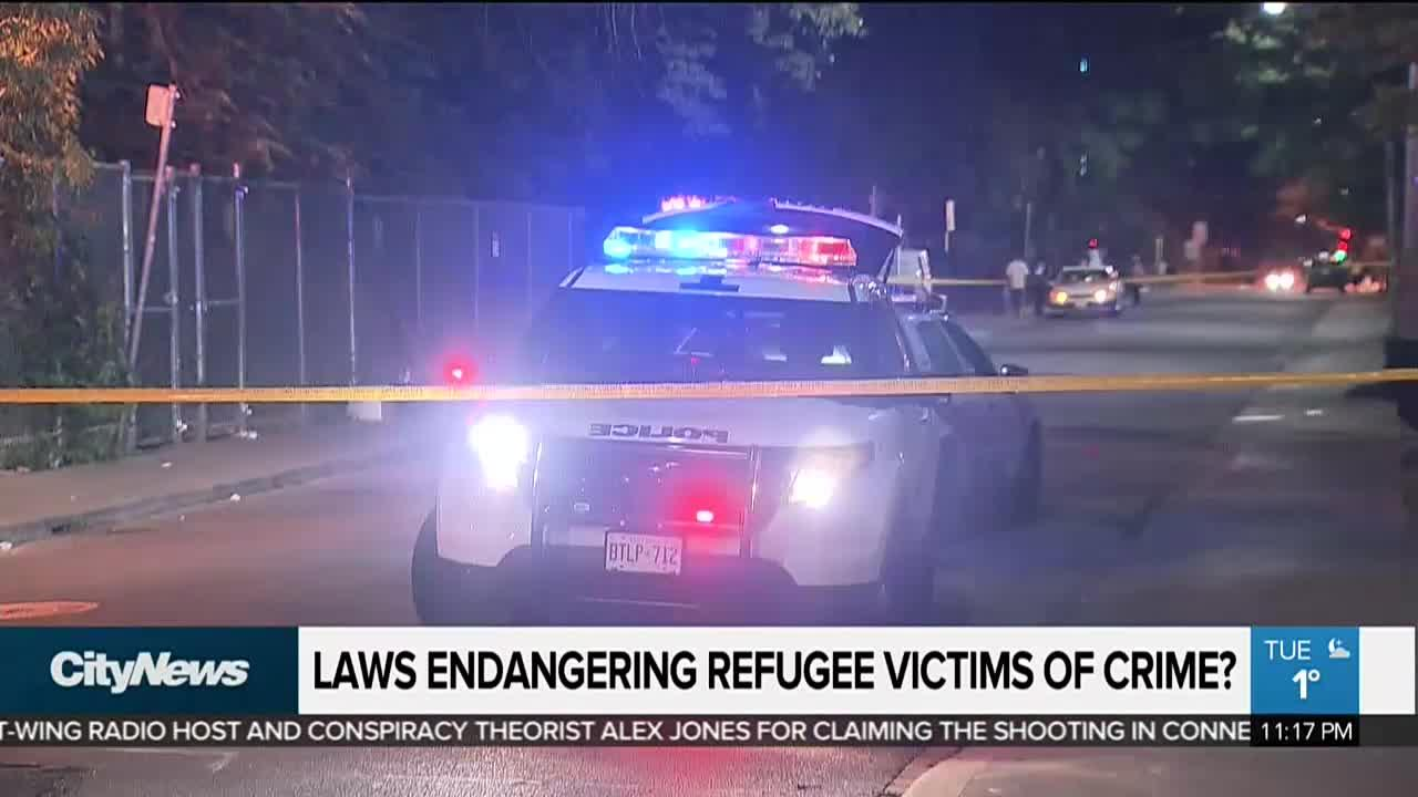 Refugee status of victims of crime putting them in danger?