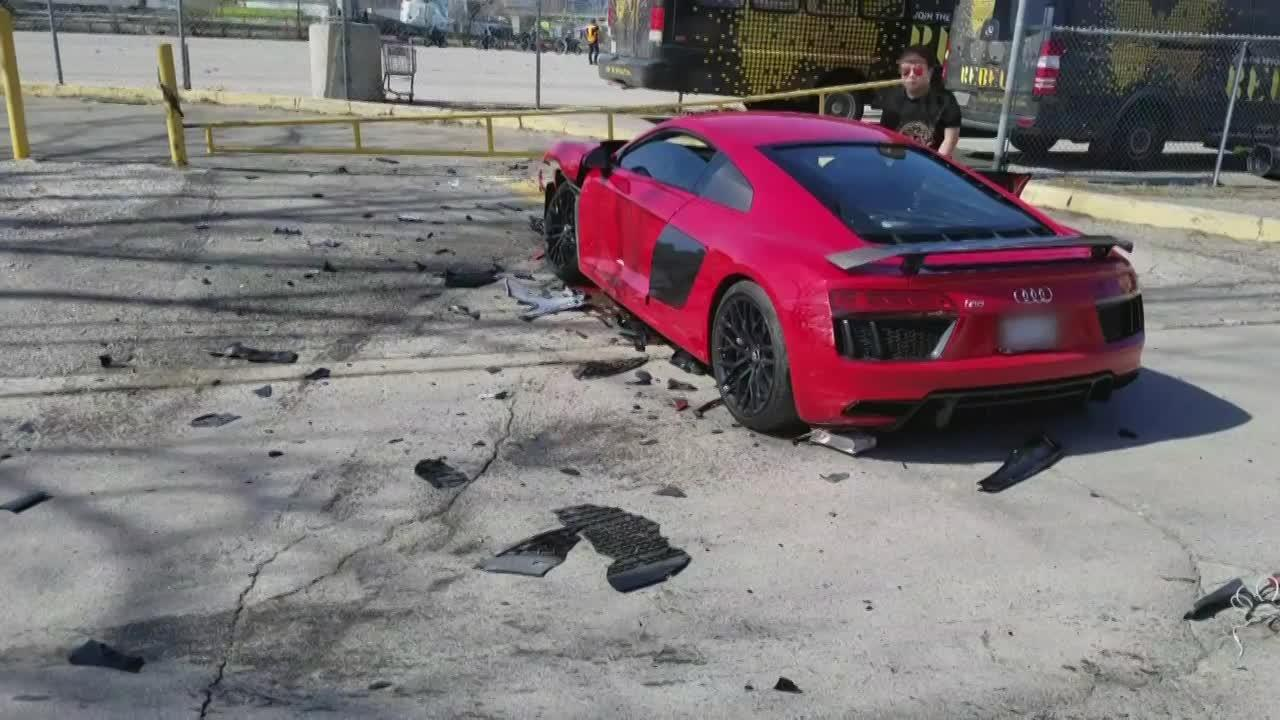 Exclusive Shocking Footage Of Luxury Car Crash