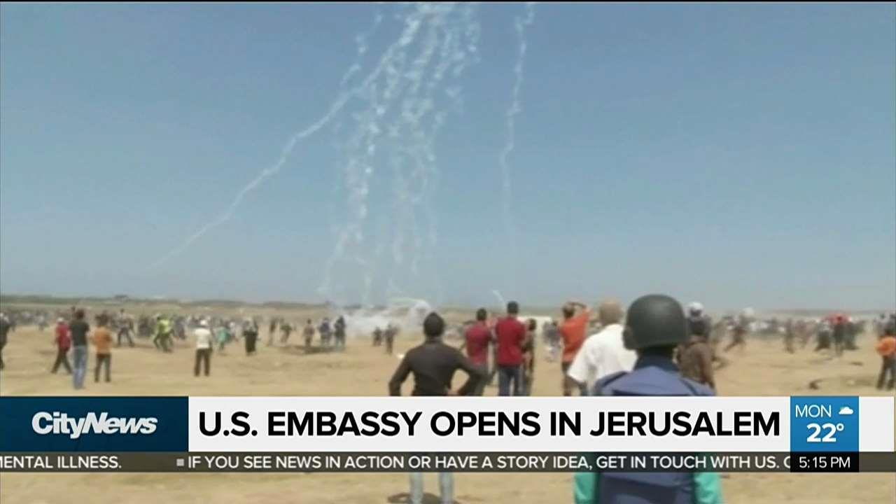 Violence in Gaza as new US embassy opens in Jerusalem