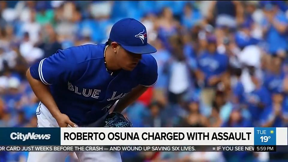 8c88bacec17 Blue Jays pitcher Roberto Osuna charged with assault