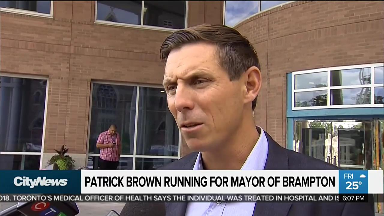 Patrick Brown running for mayor of Brampton