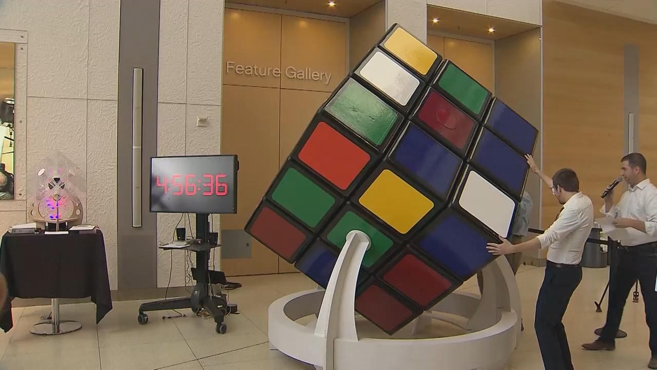World record hopeful shows off colossal cube at Telus Spark