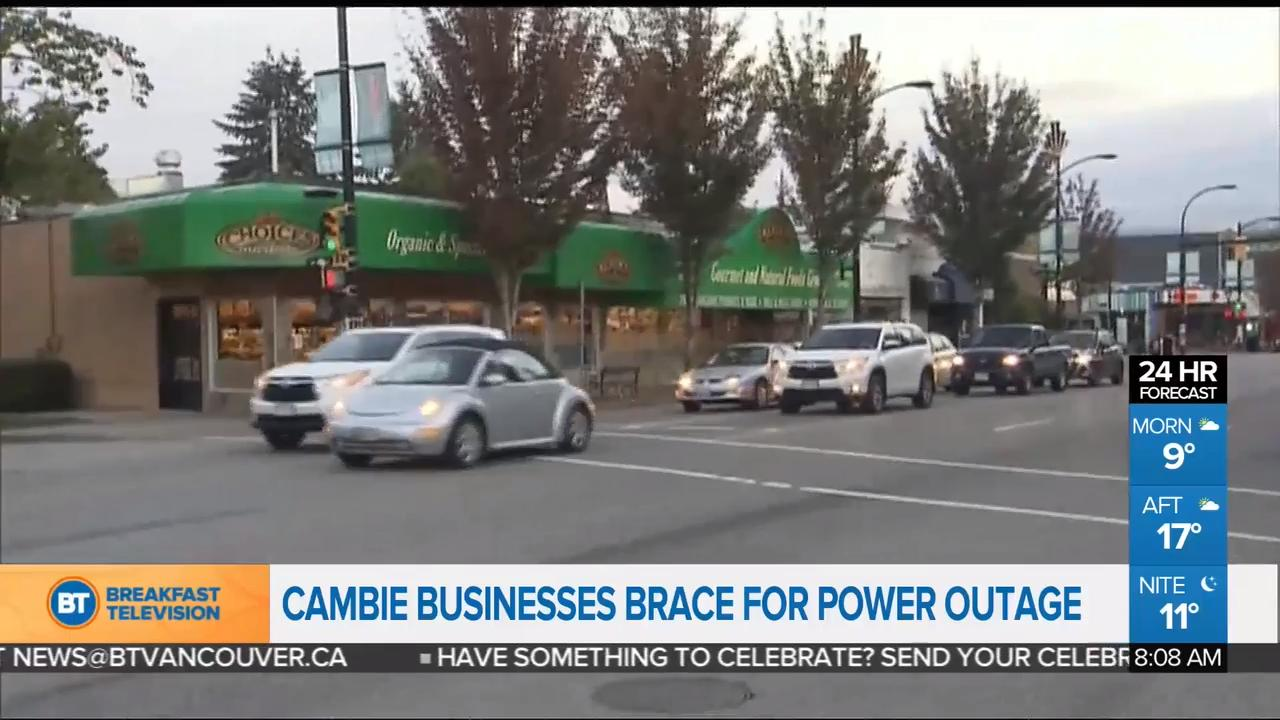 Cambie Businesses Brace for Planned Power Outage