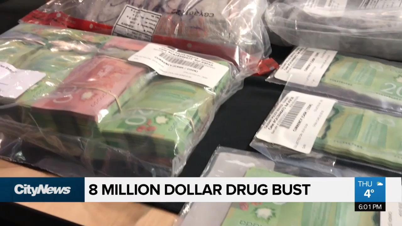8 million dollar drug bust in Calgary