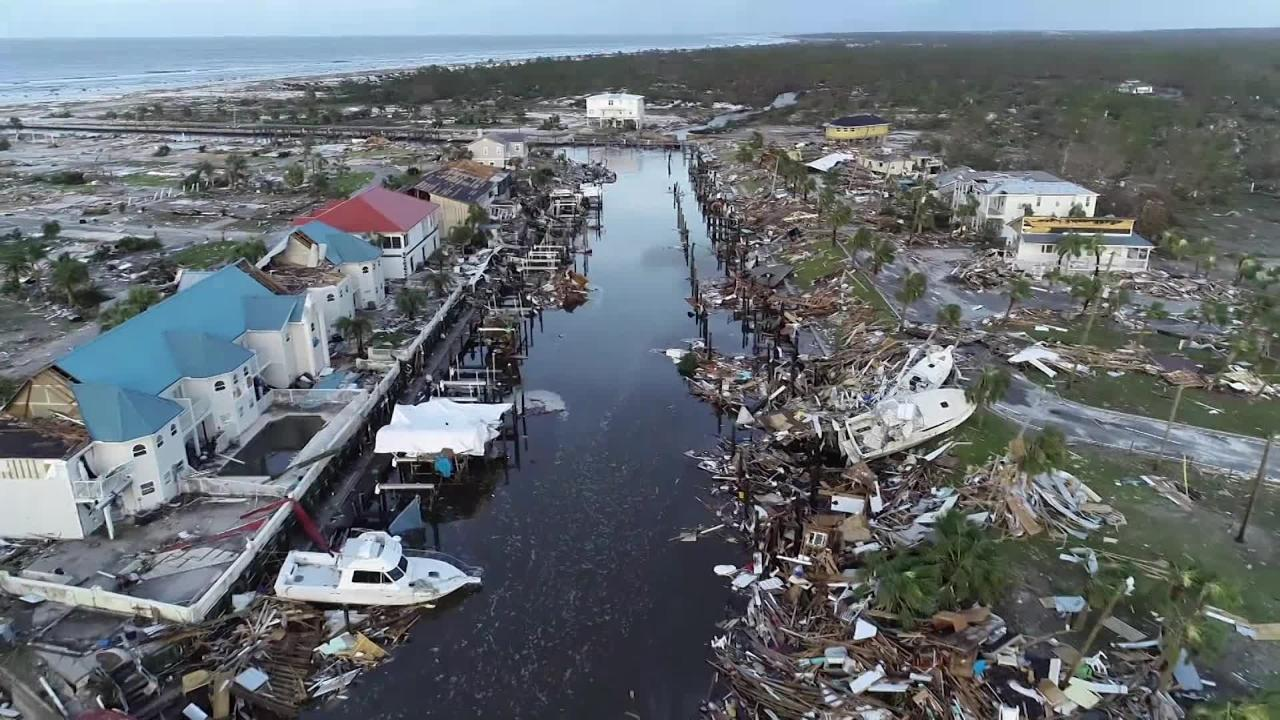Drone video of devastation left in Mexico Beach, Florida
