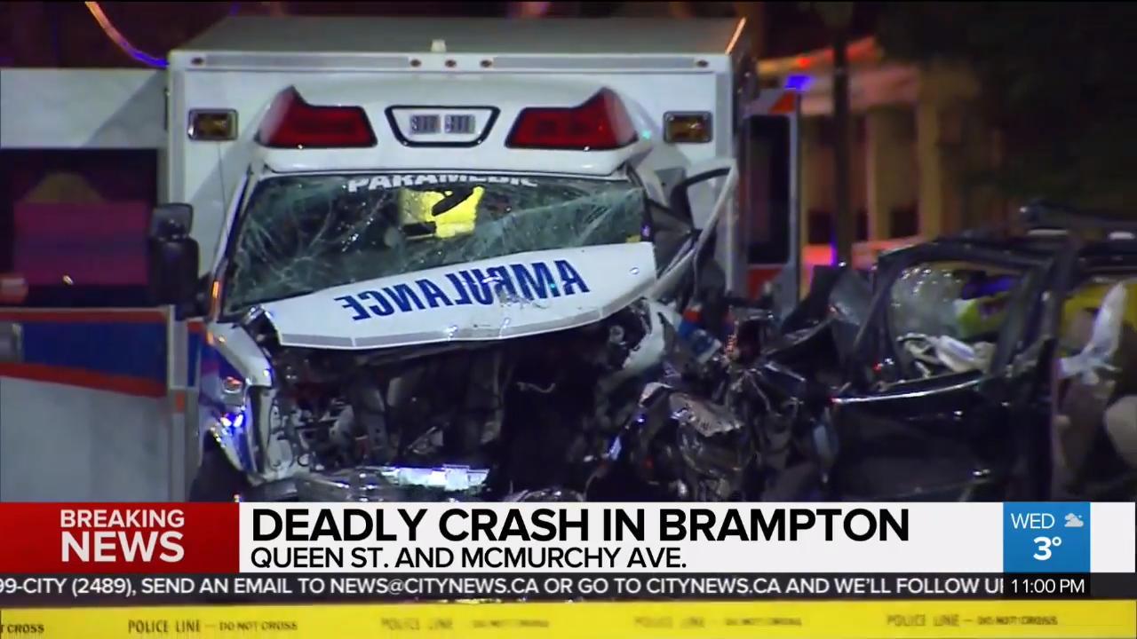 1 dead, 2 injured in deadly brampton crash - video - citynews toronto