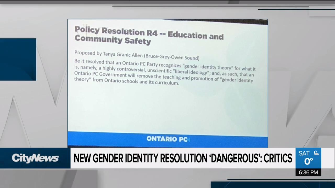 Critics say new gender identity resolution is 'dangerous' - NEWS 1130