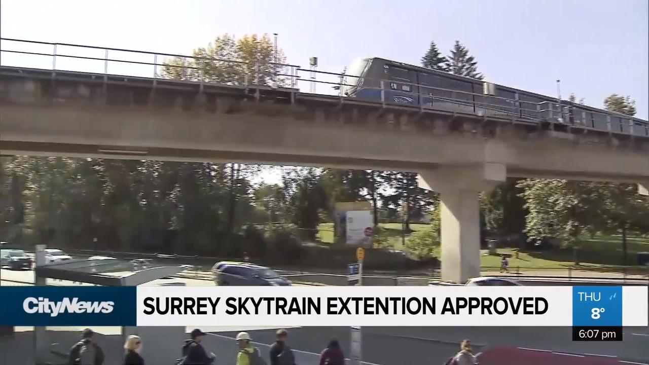 Surrey SkyTrain extention approved - NEWS 1130