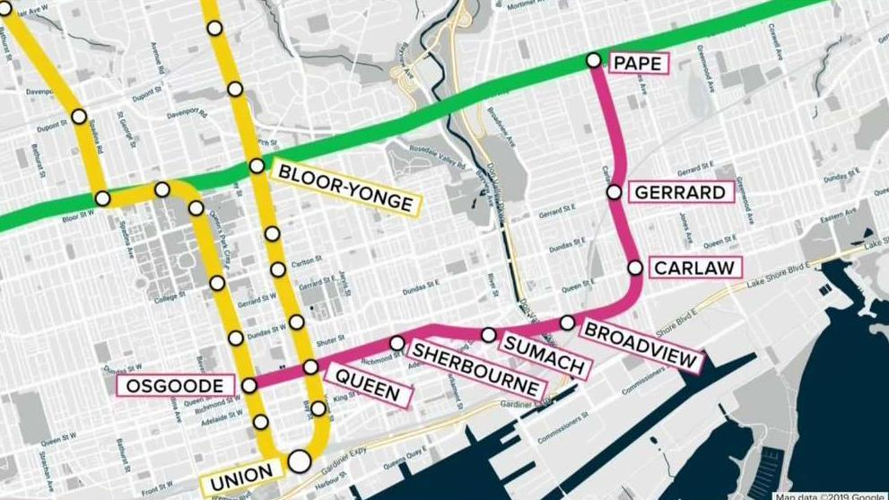 Toronto Subway Map With Streets.Toronto Subway Relief Line On The Fast Track