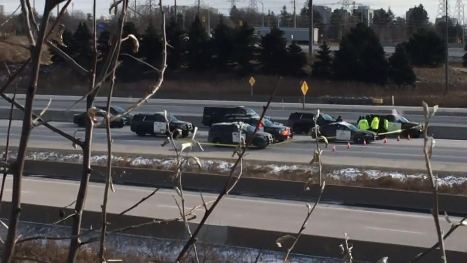 York regional police cruiser involved in collision on Hwy  407