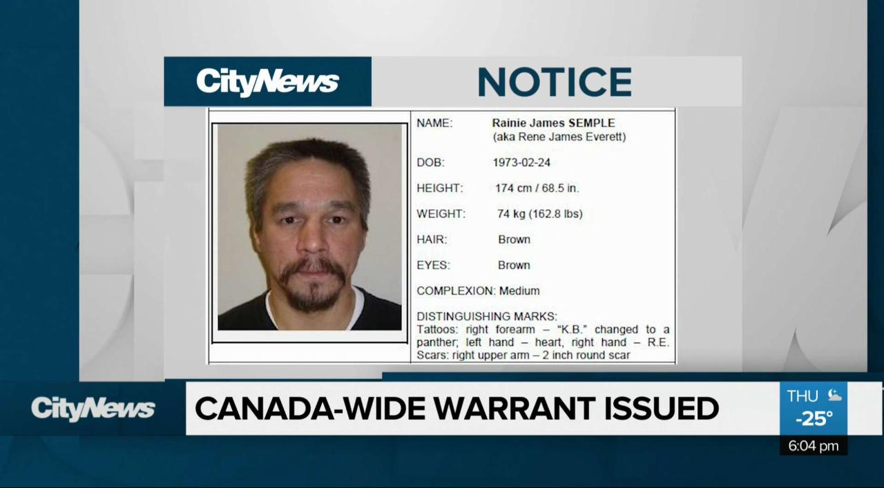 Warrant issued for Manitoban sex offender