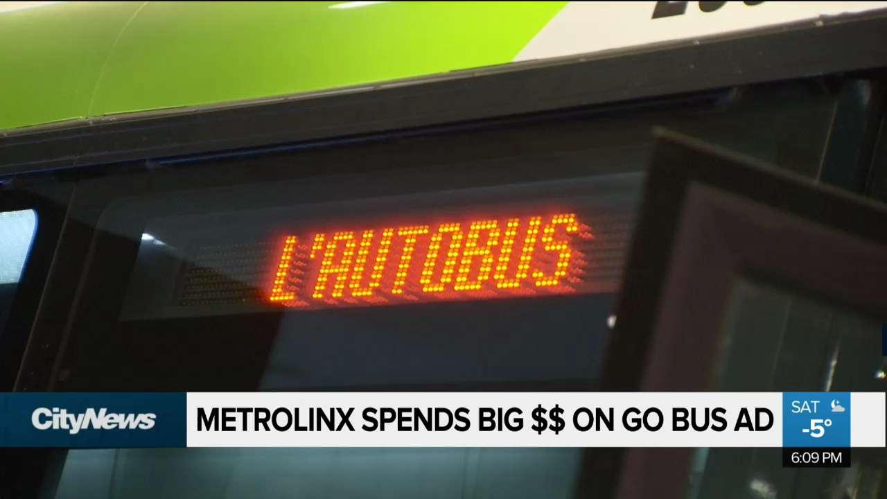 Metrolinx spends big money on GO bus ad