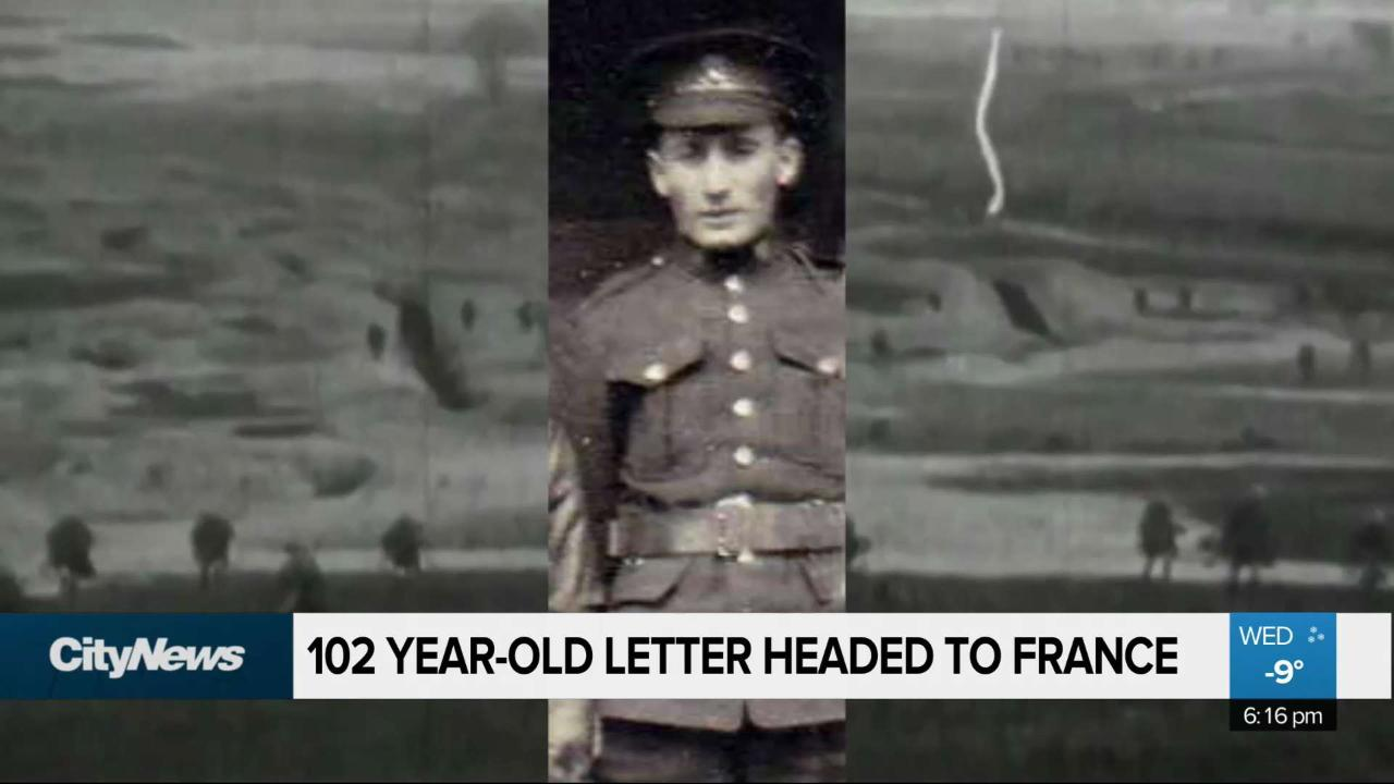 WWI-era letter found in Manitoba headed to France