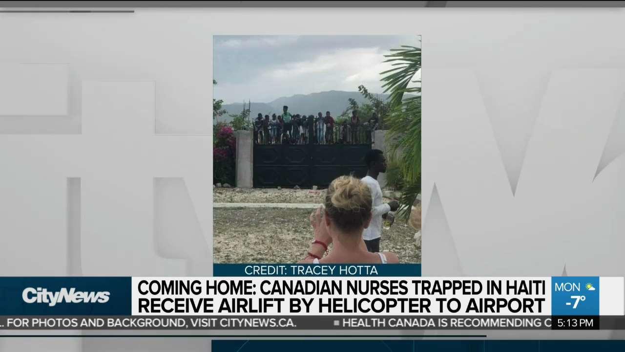 Canadian nurses rescued from Haiti