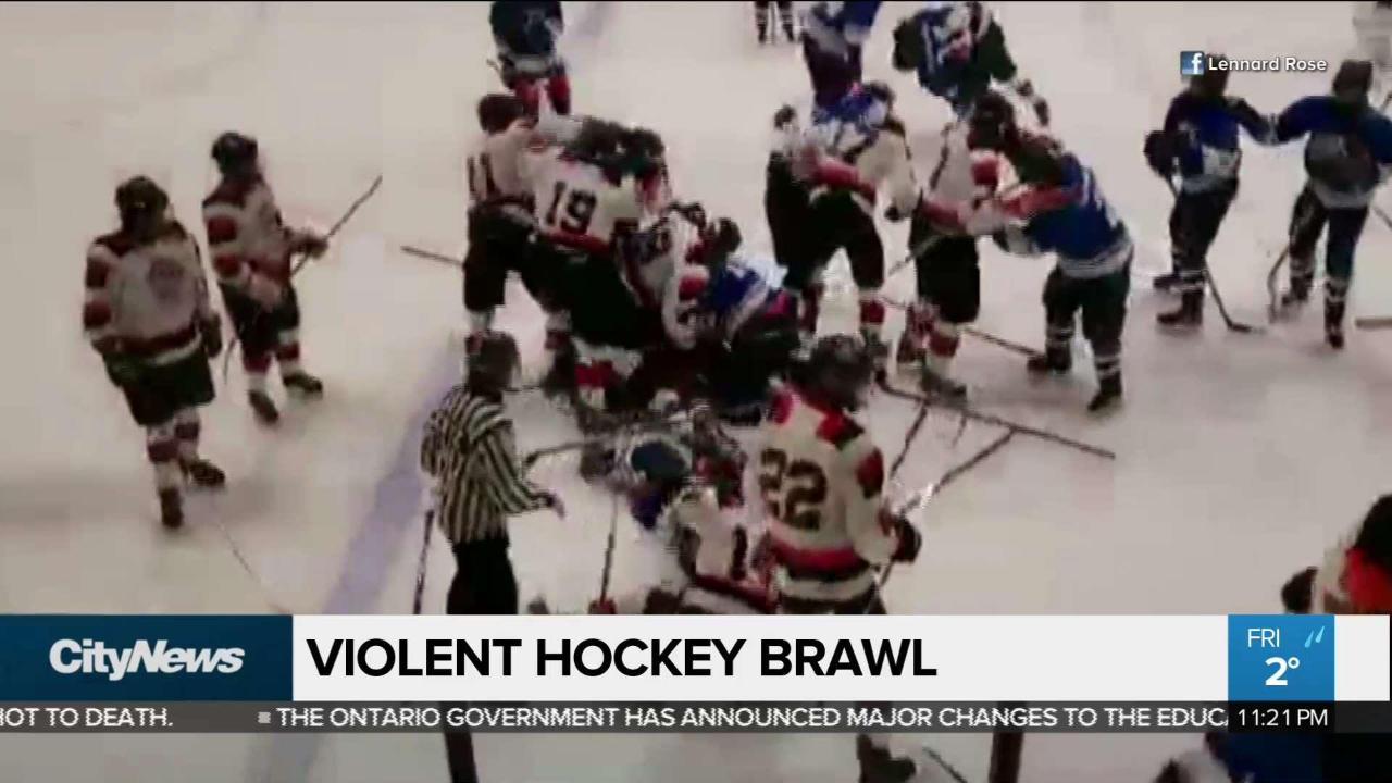 Police Investigating Violent Youth Hockey Brawl