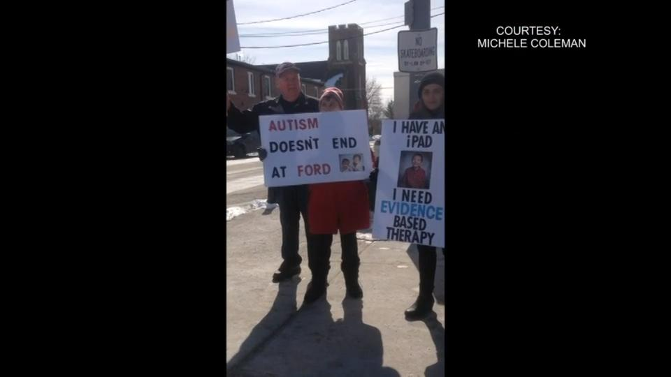 Protest against changes to autism program held in Bowmanville