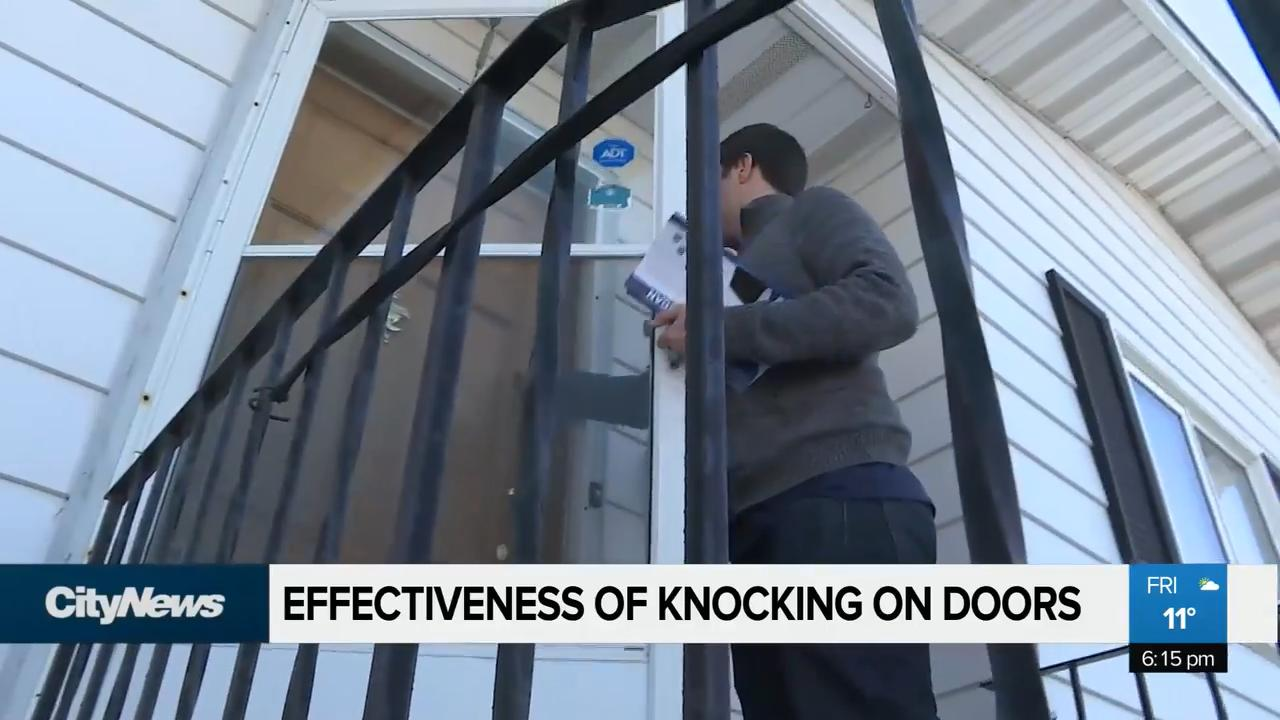 Will door-knocking help candidates in April election?