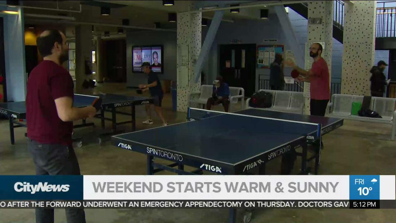 Man recovers by playing ping pong