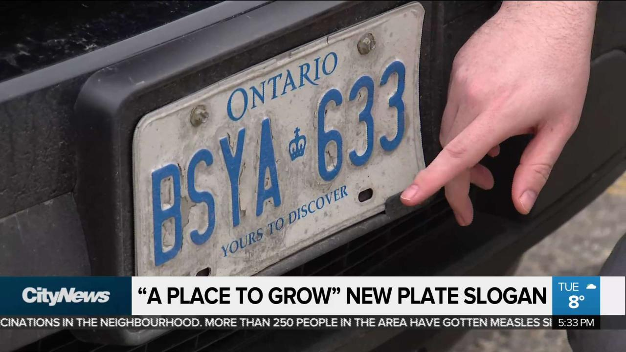 A Place To Grow Will Be New Licence Plate Slogan Reports