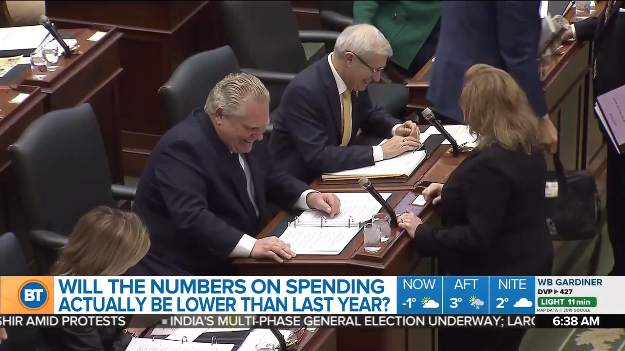 What will the spending numbers look like in the Ontario budget