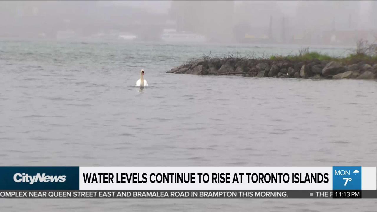 Water level steadily rising near Toronto Islands