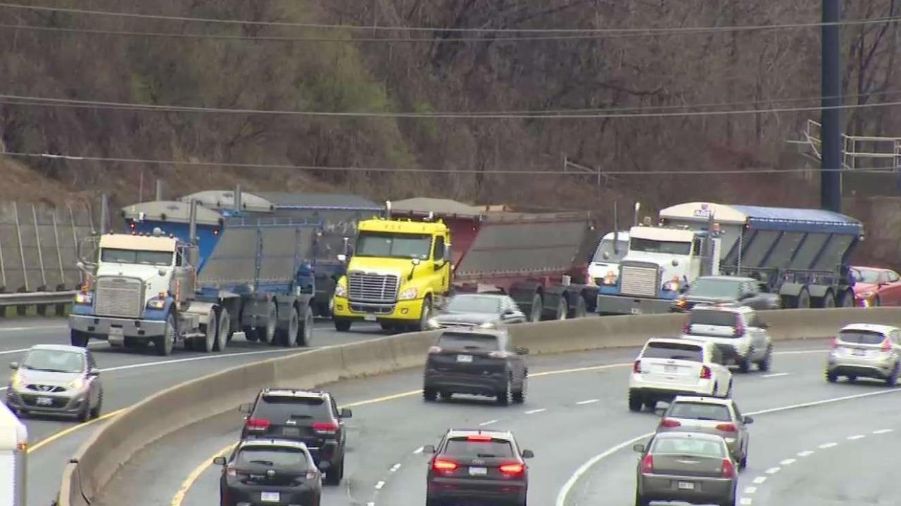 Surprise truck convoy protest snarls traffic