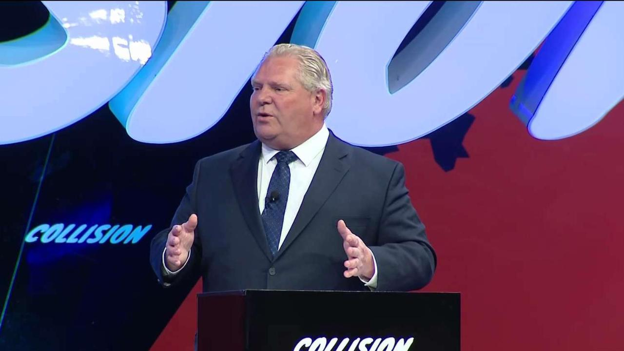 Crowd boos Doug Ford at Collision Conference