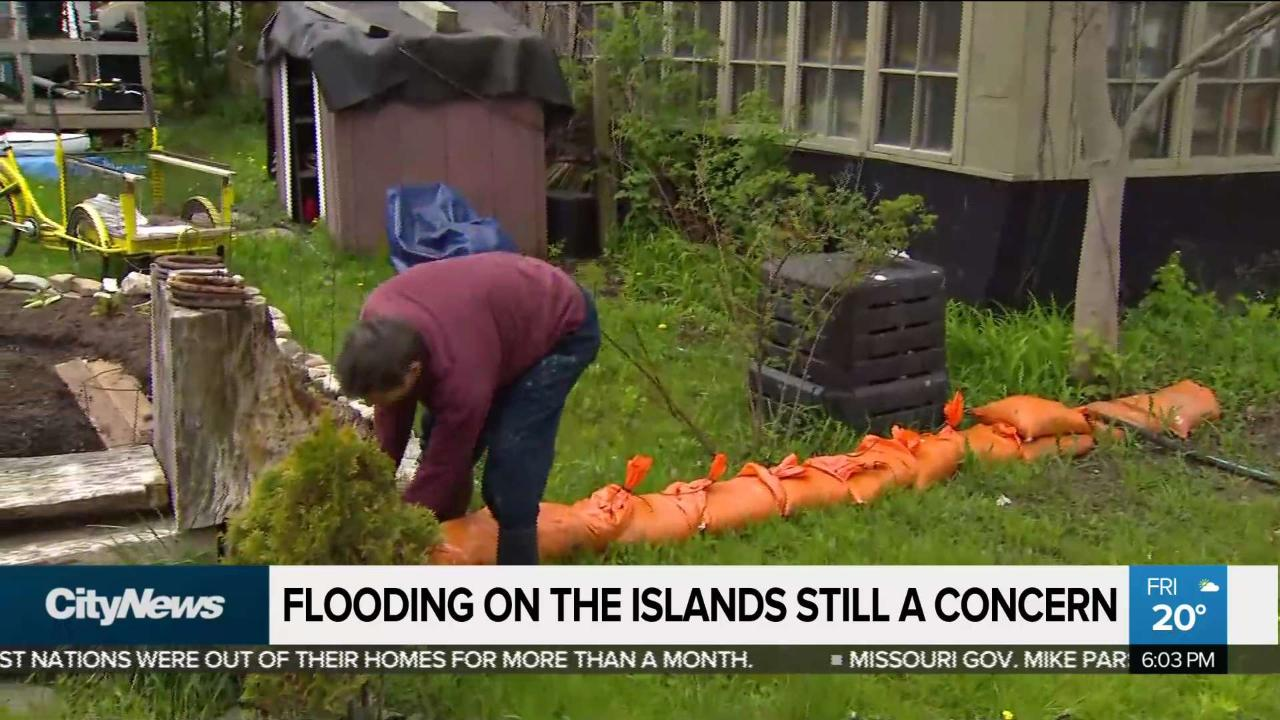 Toronto Islands brace for more possible flooding