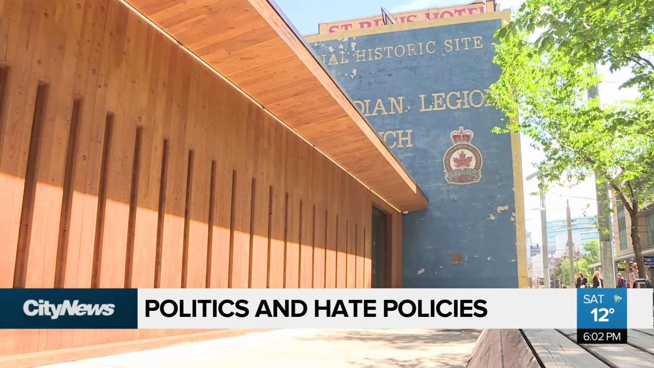 Royal Canadian Legion new policy on hate