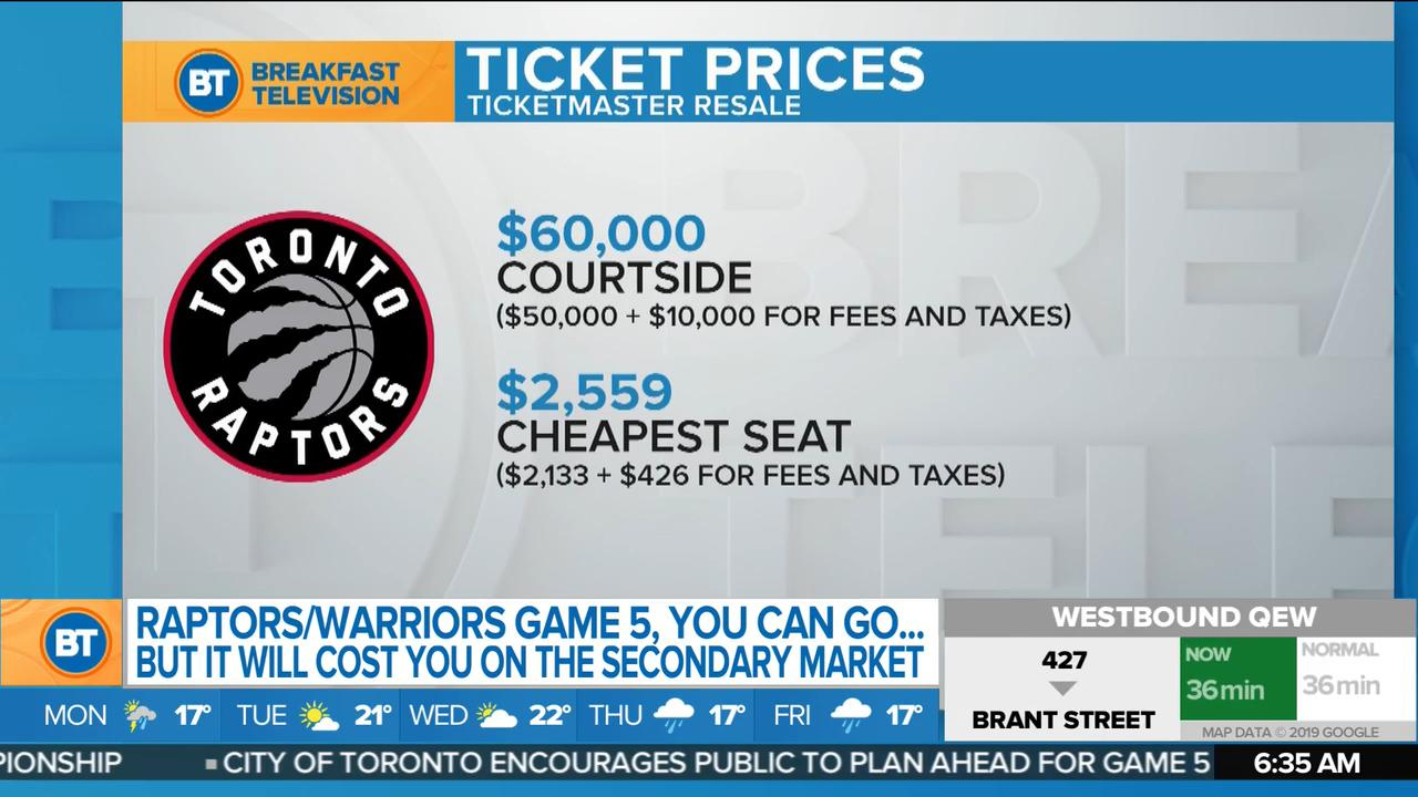 Courtside Game 5 Raptors tickets are going for $60K