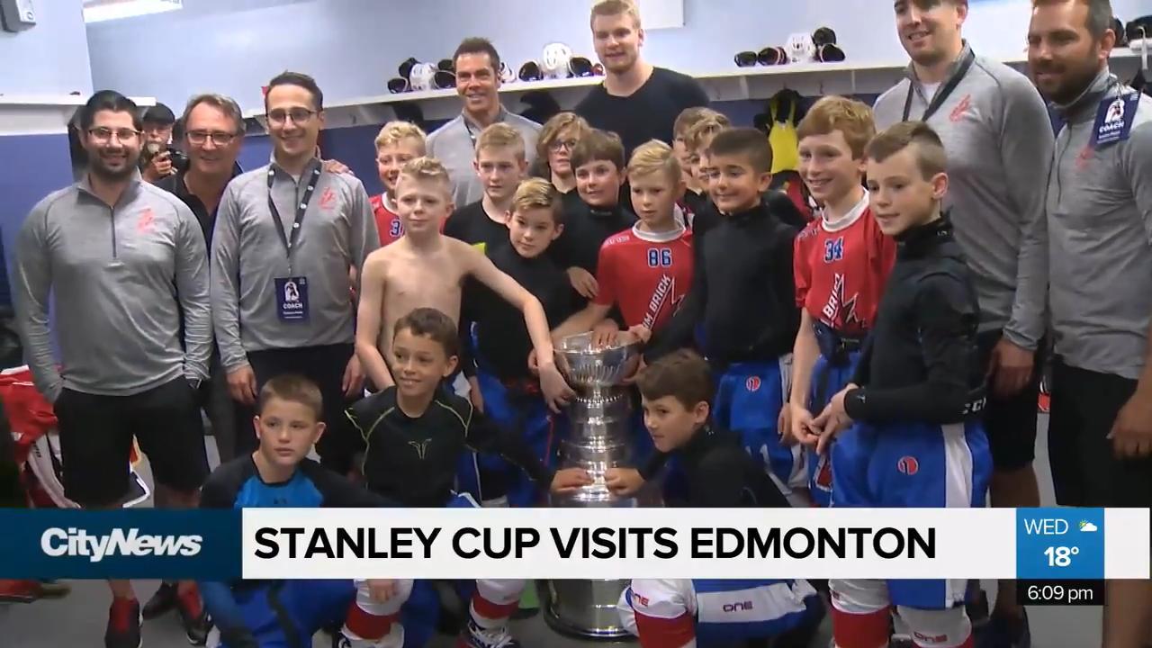 Colton Parayko Brings Stanley Cup To Edmonton