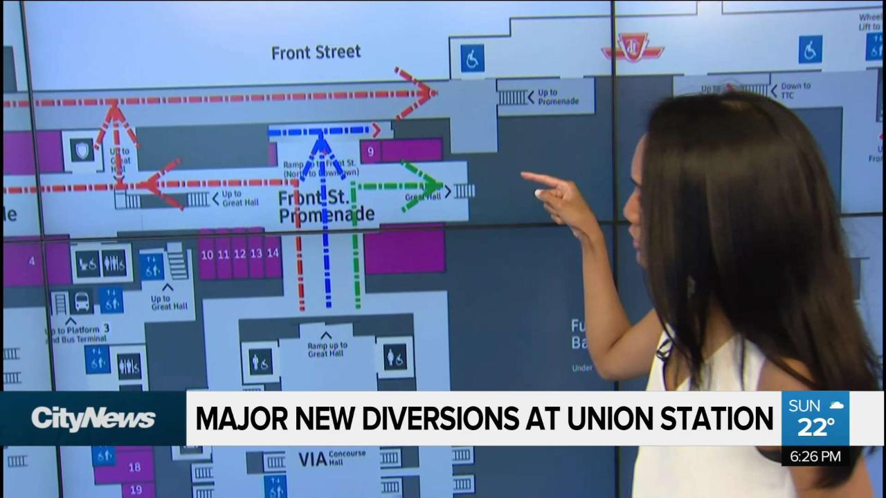 Union Station diverts path to TTC for construction