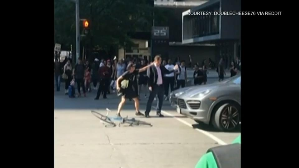 Toronto police investigating after cyclist appears to attack