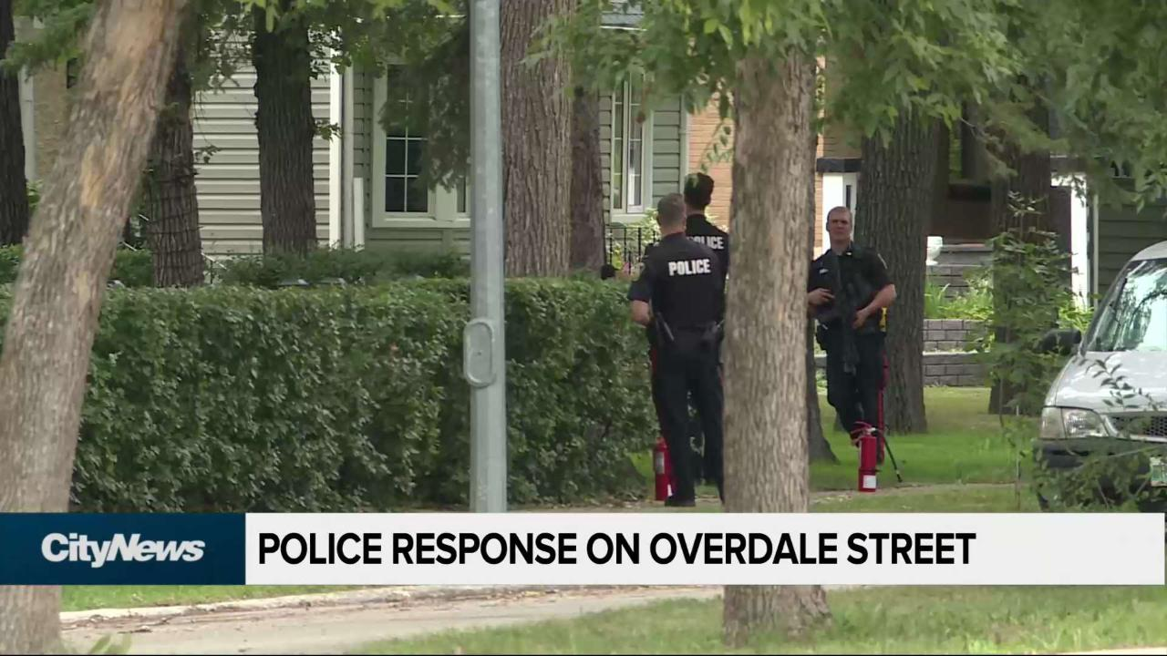 Police response on Overdale St