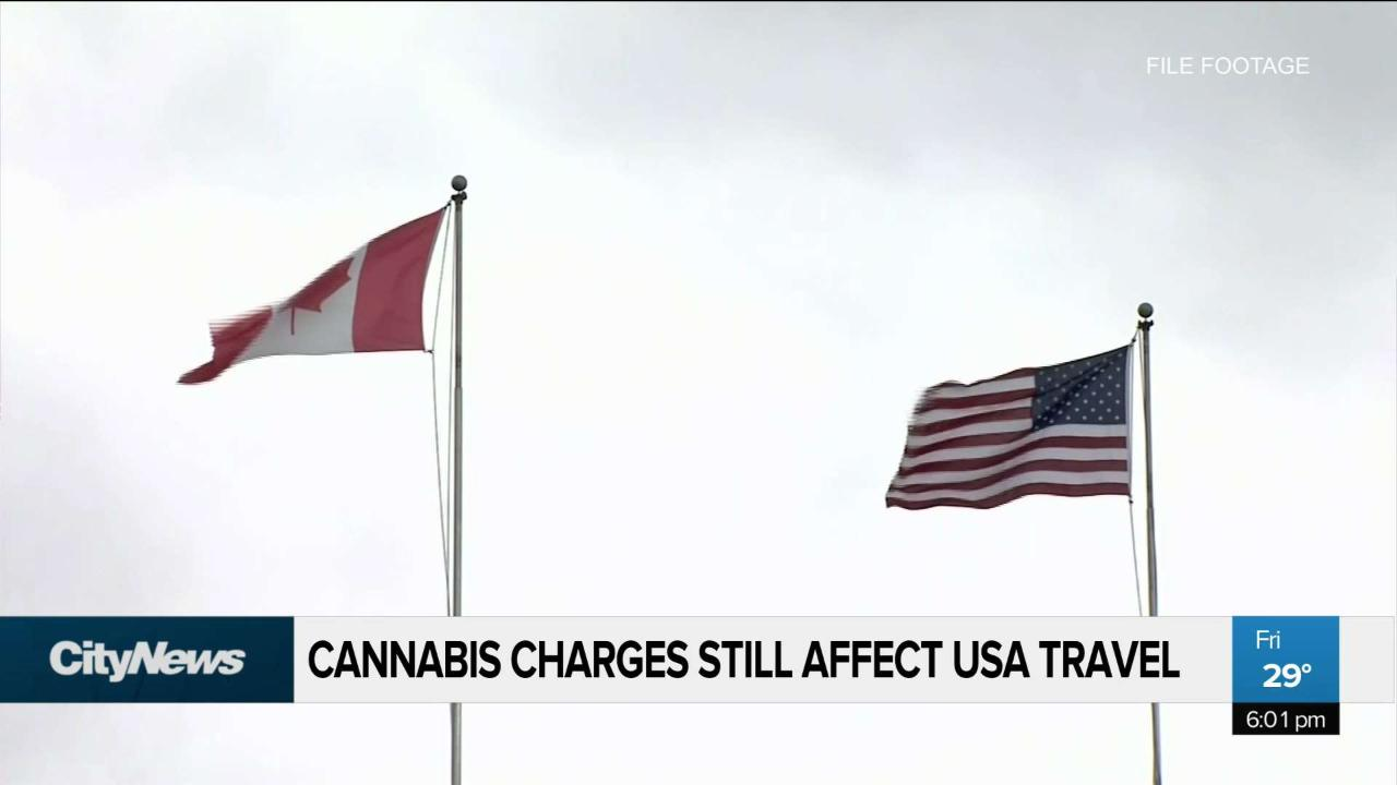Pardoned cannabis charges may still affect travel to the USA