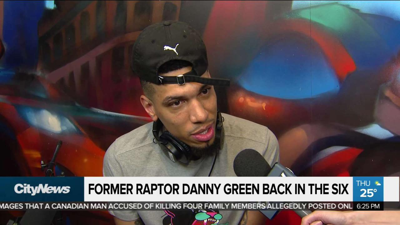 Former Raptor Danny Green reflects on time in Toronto