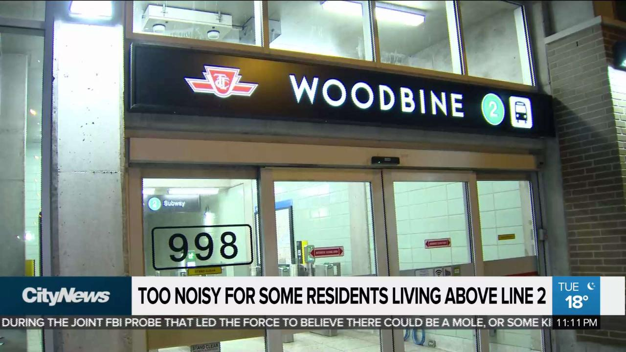 Residents complain about TTC noise above Line 2