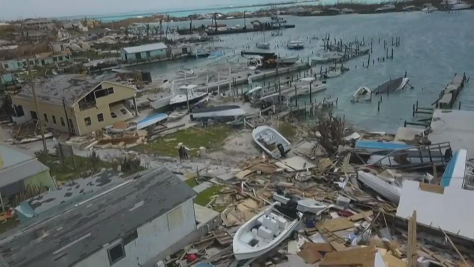 Drone footage shows Hurricane Dorian's destruction to island