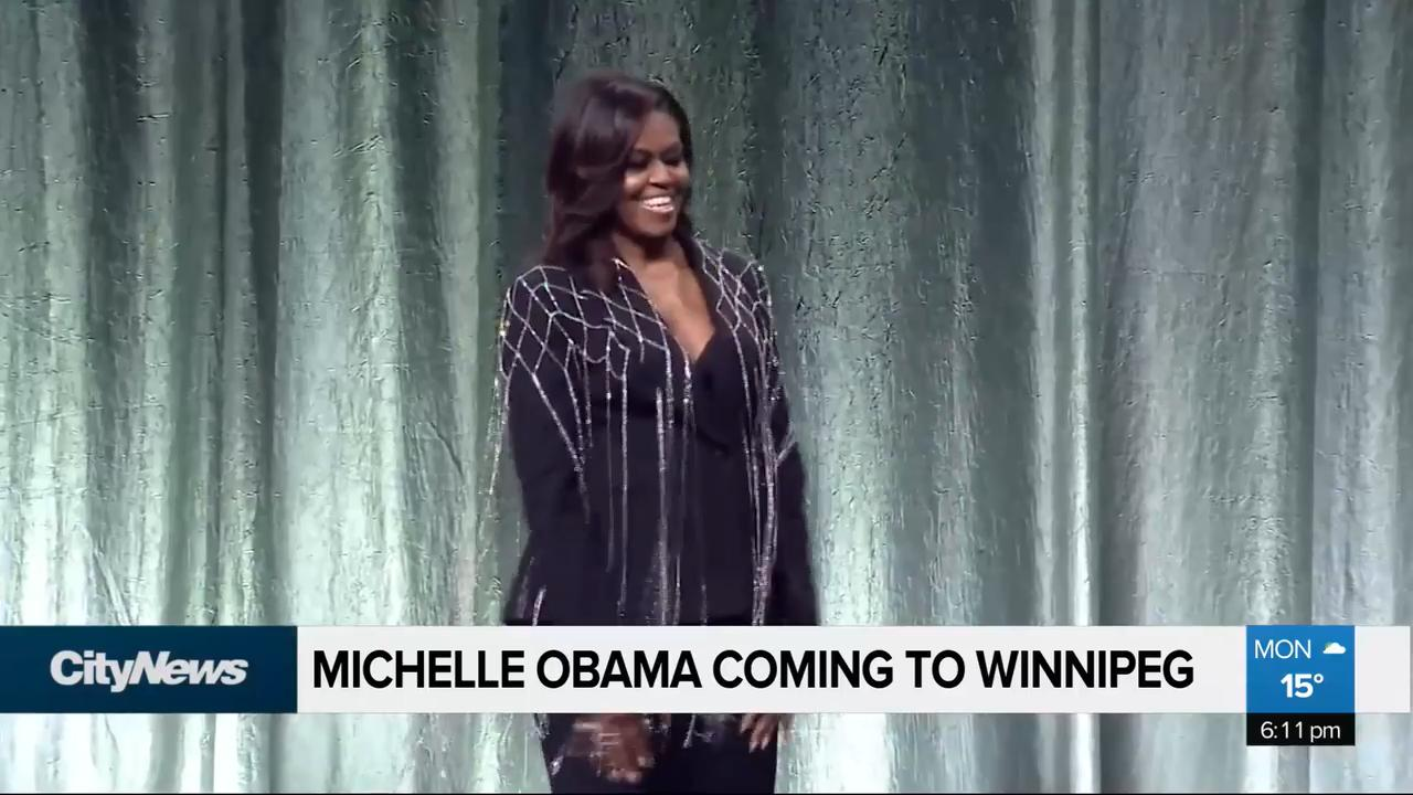 Michelle Obama is coming to Winnipeg