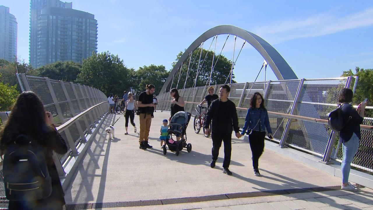 Garrison Crossing pedestrian bridge officially opens