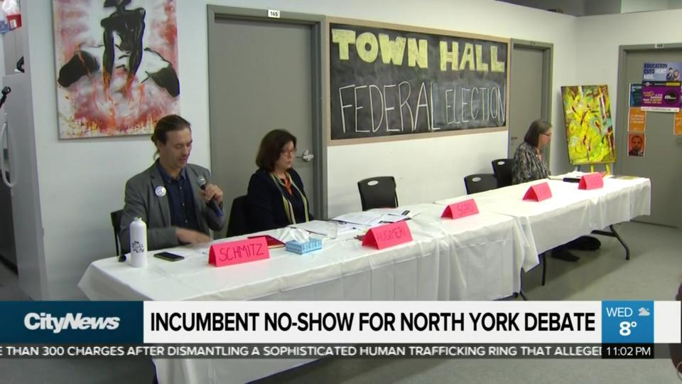 Incumbent no-show for North York debate