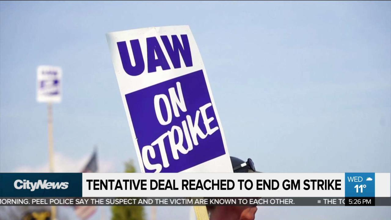Business report: Tentative deal reached to end GM strike