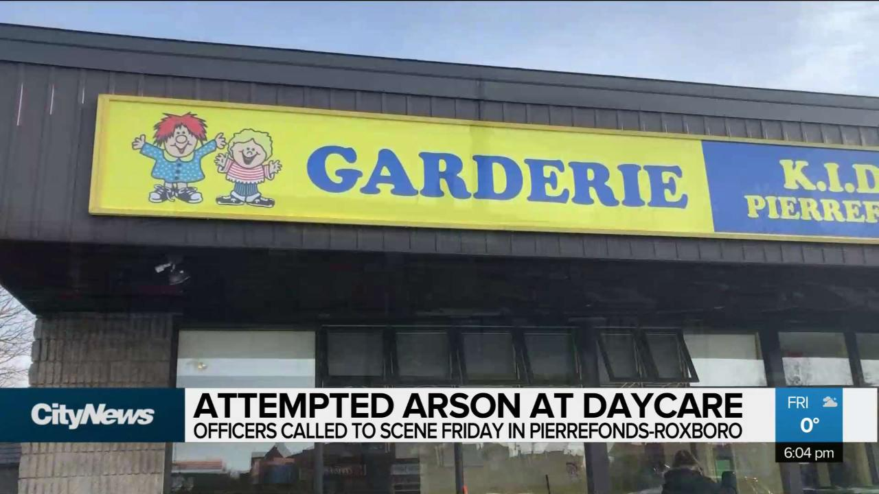 Attempted arson at a daycare in Pierrefonds-Roxboro - CityNews Montreal