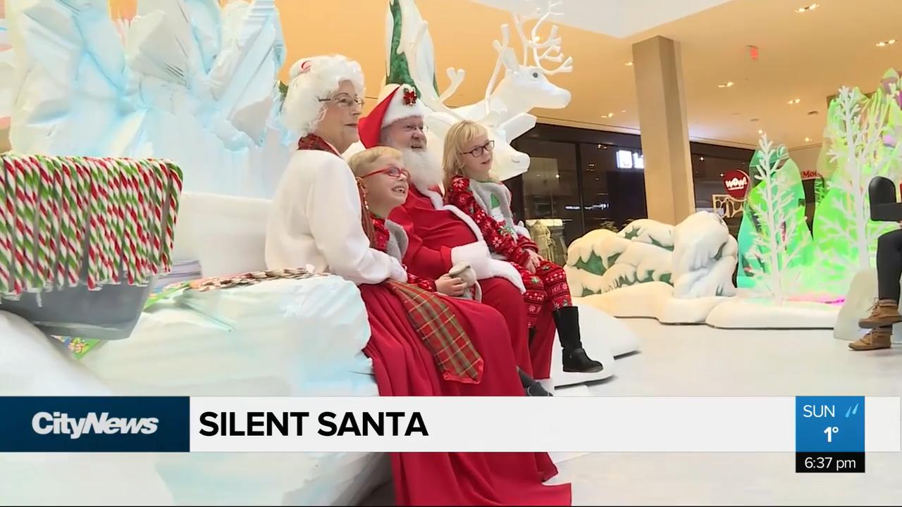 Children living with autism, sensory delays get quiet one-on-one with Santa
