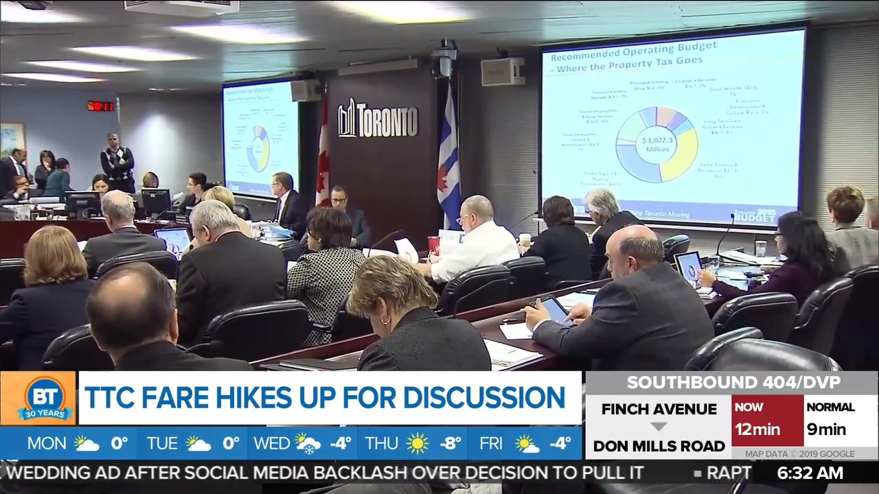 TTC board to discuss propsed fare hike