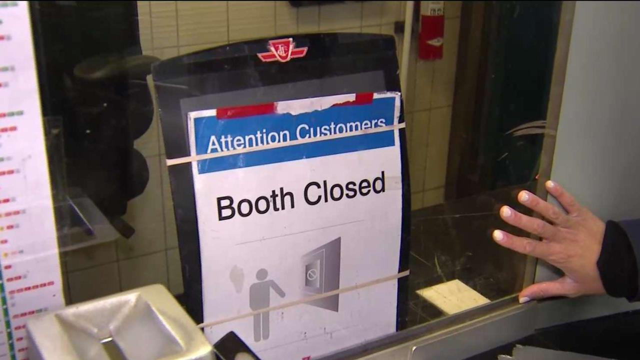 TTC collector booths close at 21 more subway stations