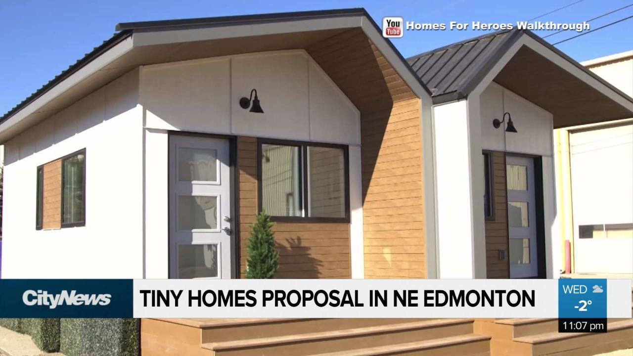 Tiny homes for Edmonton's homeless veterans